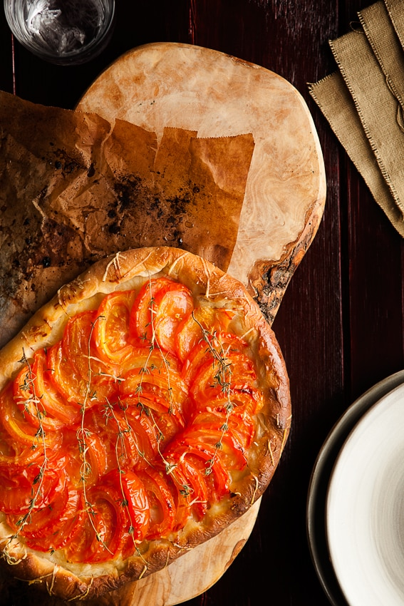 Tomato Pizza Pie - Food Photography We eat together