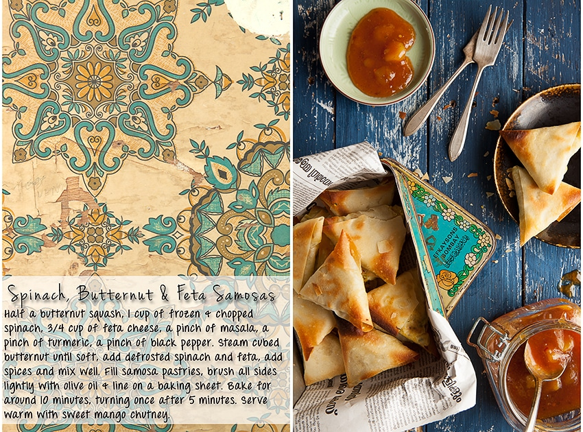 Spinach, Butternut & Feta Samosas Recipe