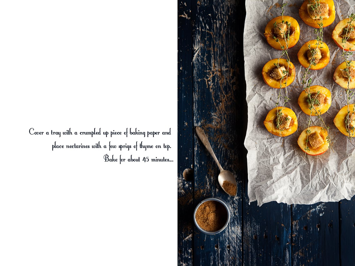 Brown Sugar Nectarines with Thyme - Food Photography We eat together