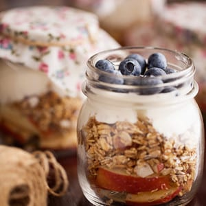 Toasted Muesli Fruit Jars Recipe