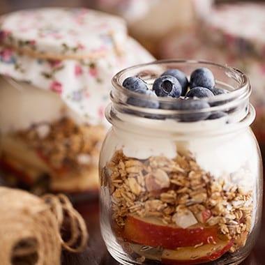 Toasted Muesli Fruit Jars Recipe