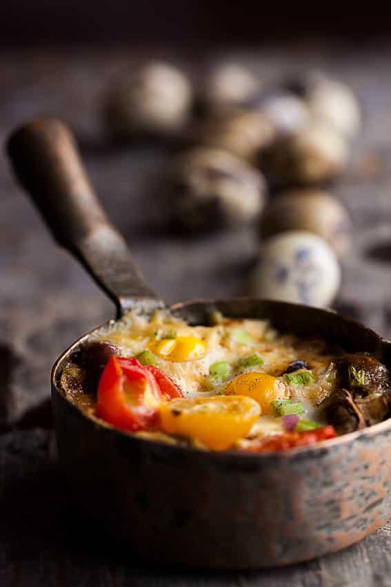 Skyler S Sausage Mushroom And Quail Egg Bake Recipe We