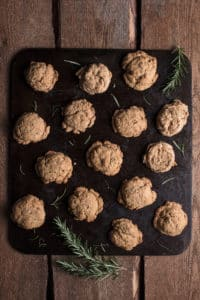 Rosemary Garlic Parmesan and Cheddar Whole Wheat Biscuits Recipe