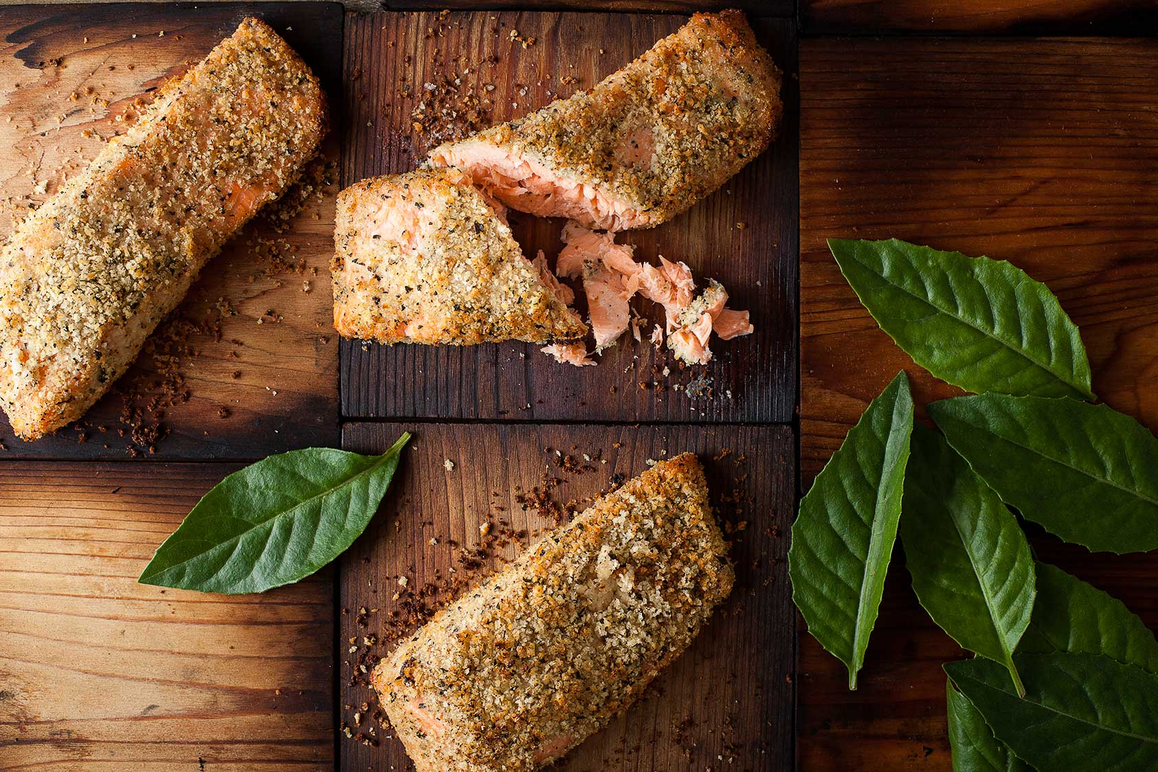 Crusted Salmon On Cedar Planks Food Photography We Eat Together