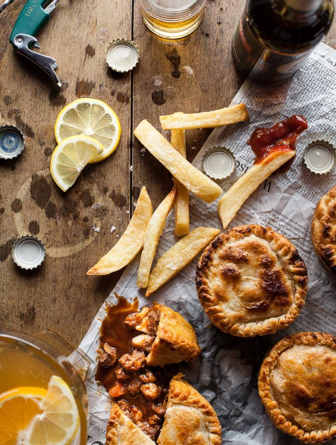Smokey Mince Pies and Beer We Eat Together Food Photography