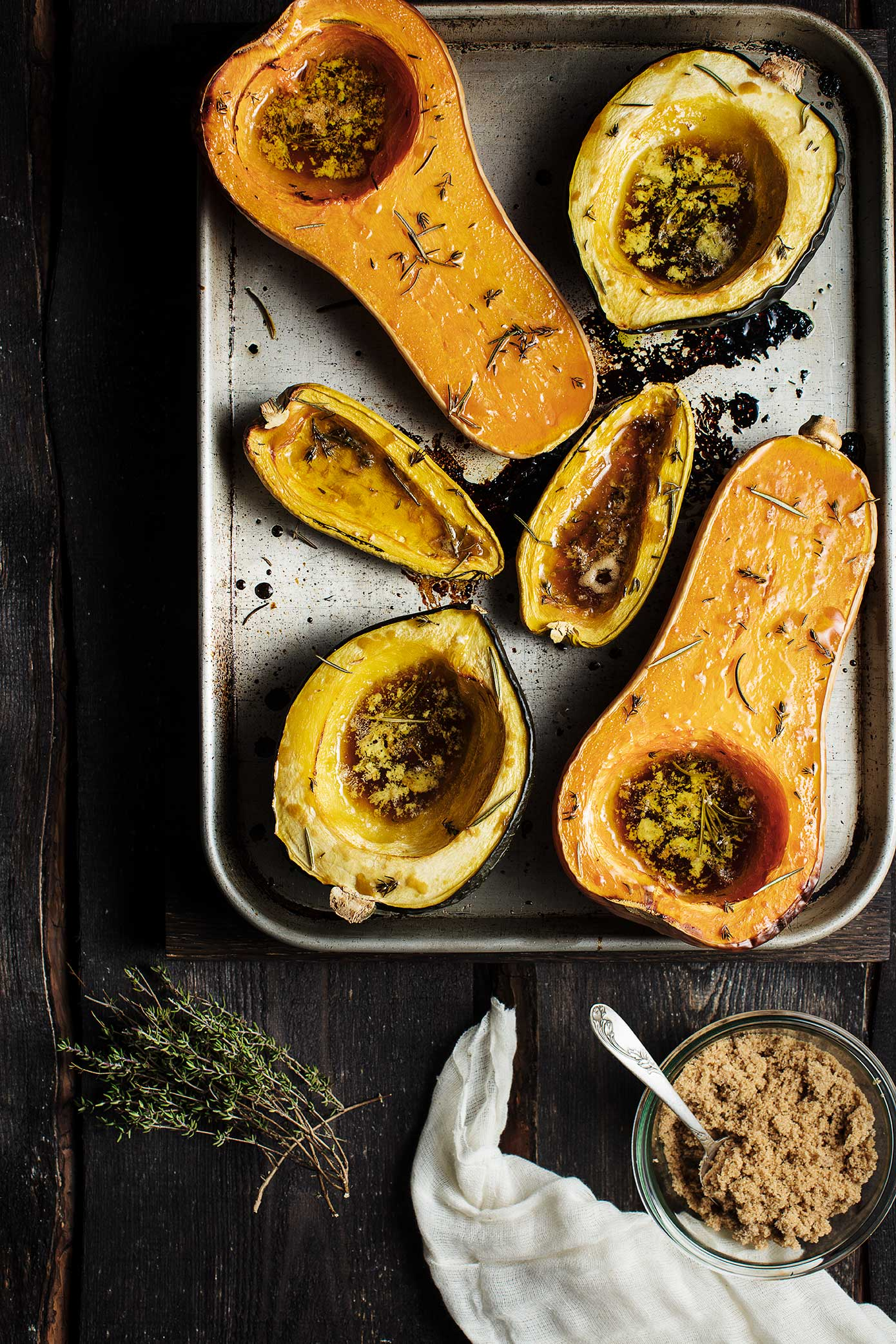 Winter Squash Flat Lay Food Photography We Eat Together
