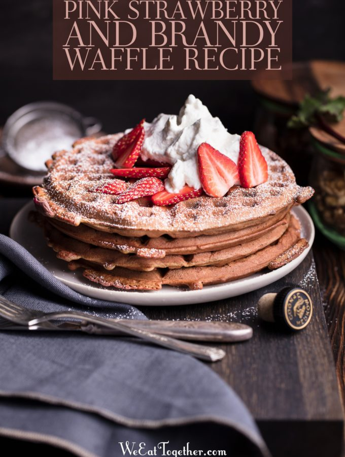 Pink Strawberry And Brandy Waffle Recipe